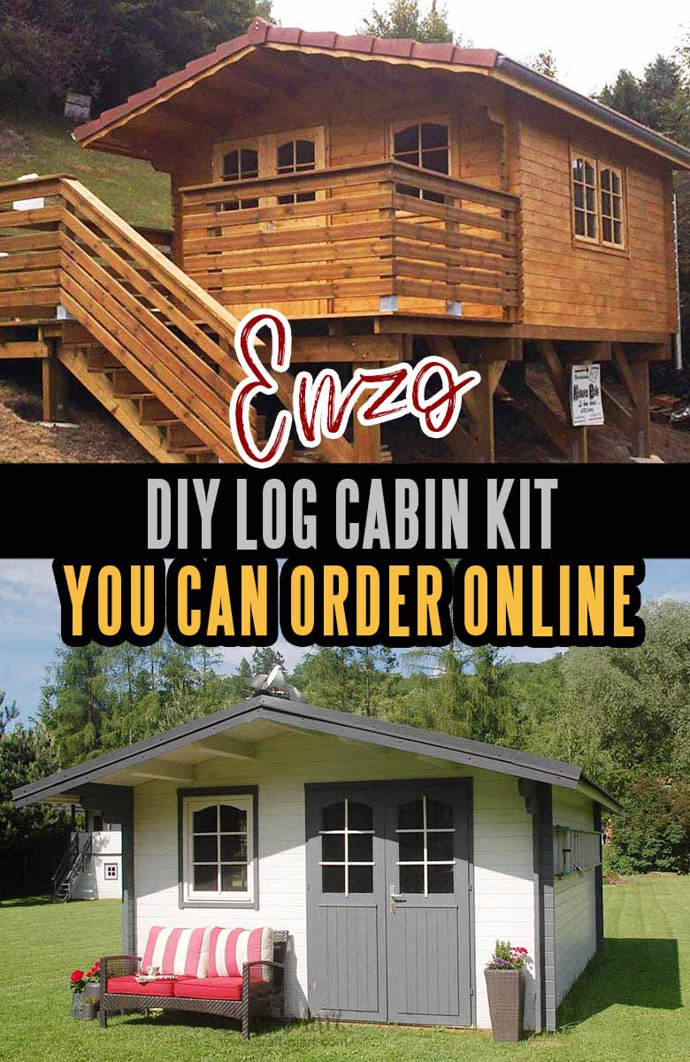 Tiny log cabin kit you can order online. Imported from EU country of Estonia famous for quality log cabins. #tinyhouse