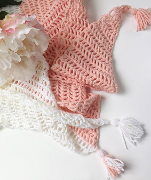 Easy crochet projects for spring and summer #easycrochetproject #freecrochetpatterns #crochetscarf #summercrochet