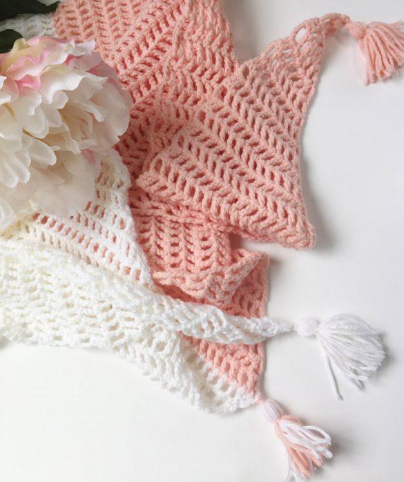 Easy crochet projects for spring and summer #easycrochetproject #freecrochetpatterns #crochetscarf #summercrochet