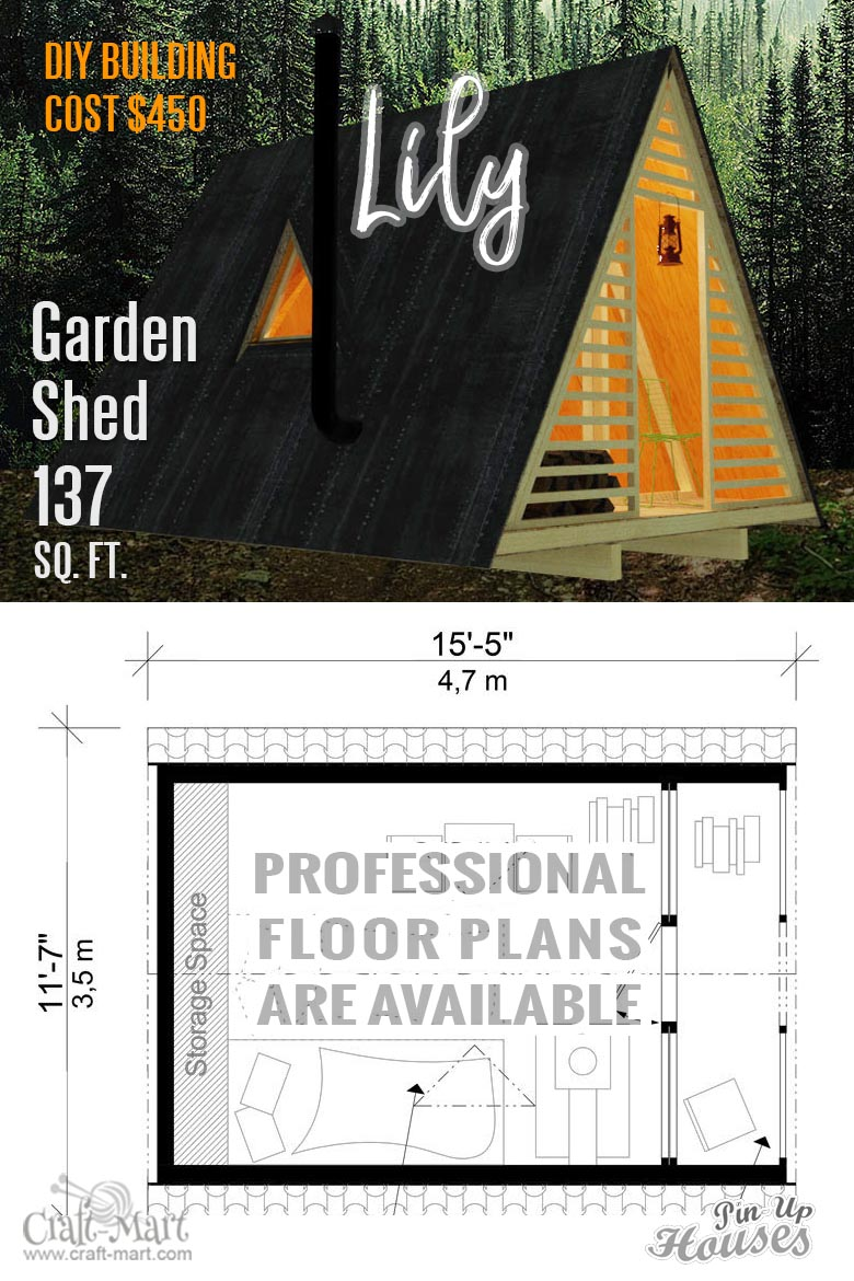 tiny A-Frame Shed with cost to build