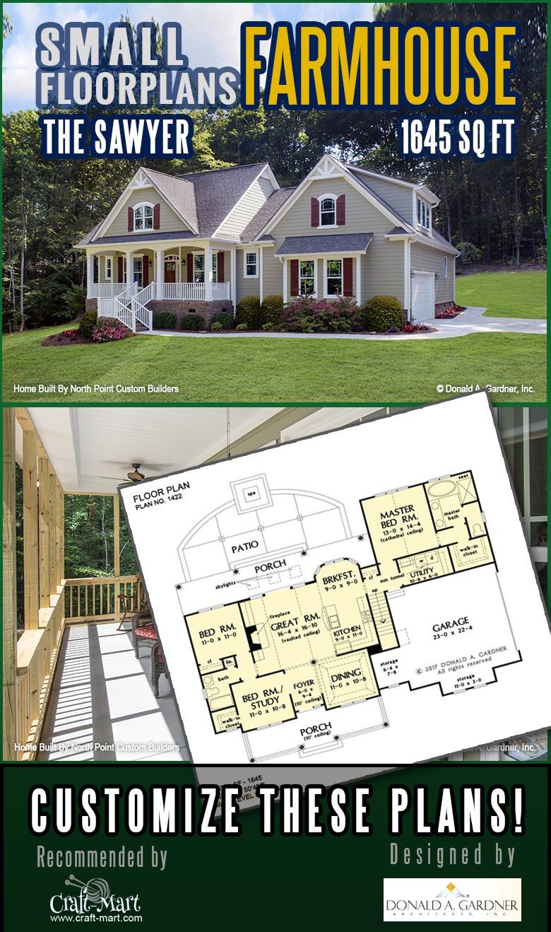 Modern rustic farmhouse plan