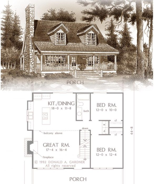 SMALL RUSTIC HOUSE PLANS FOR EMPTY NESTERS