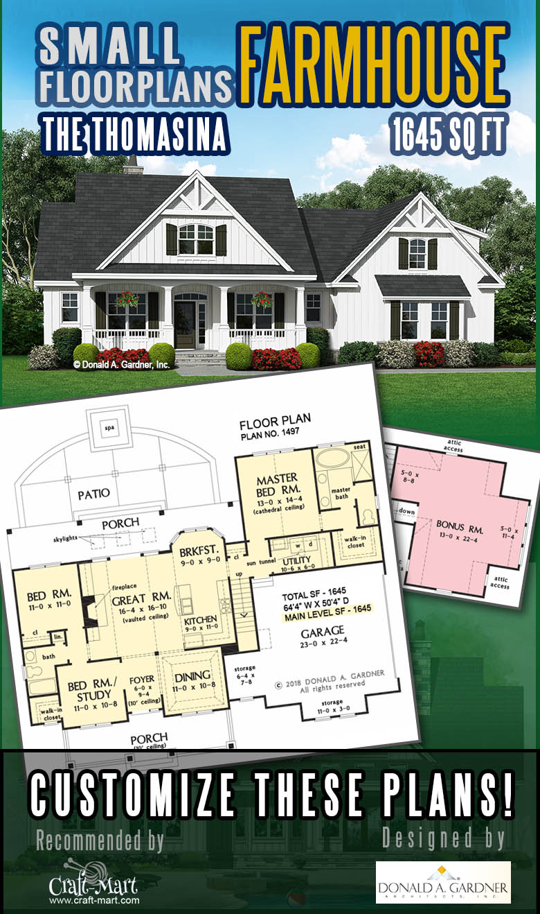 Small house plan with rustic facade