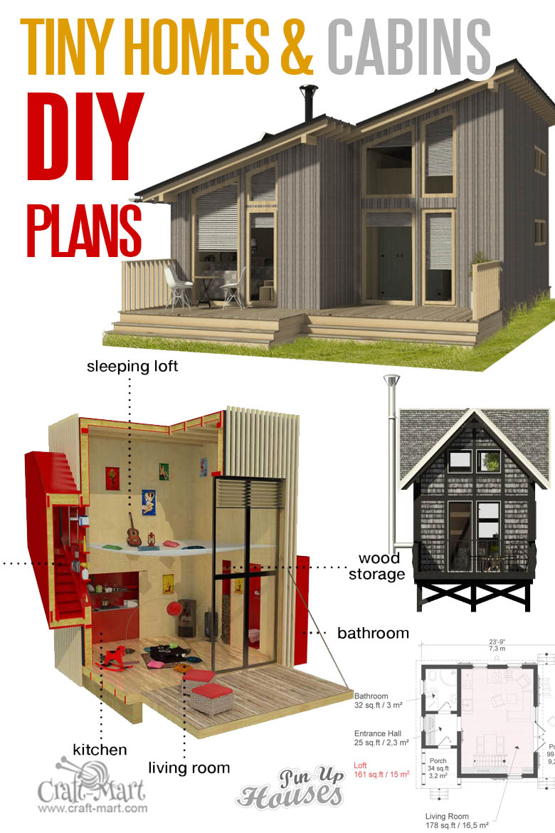 Tiny cabins and micro home plans