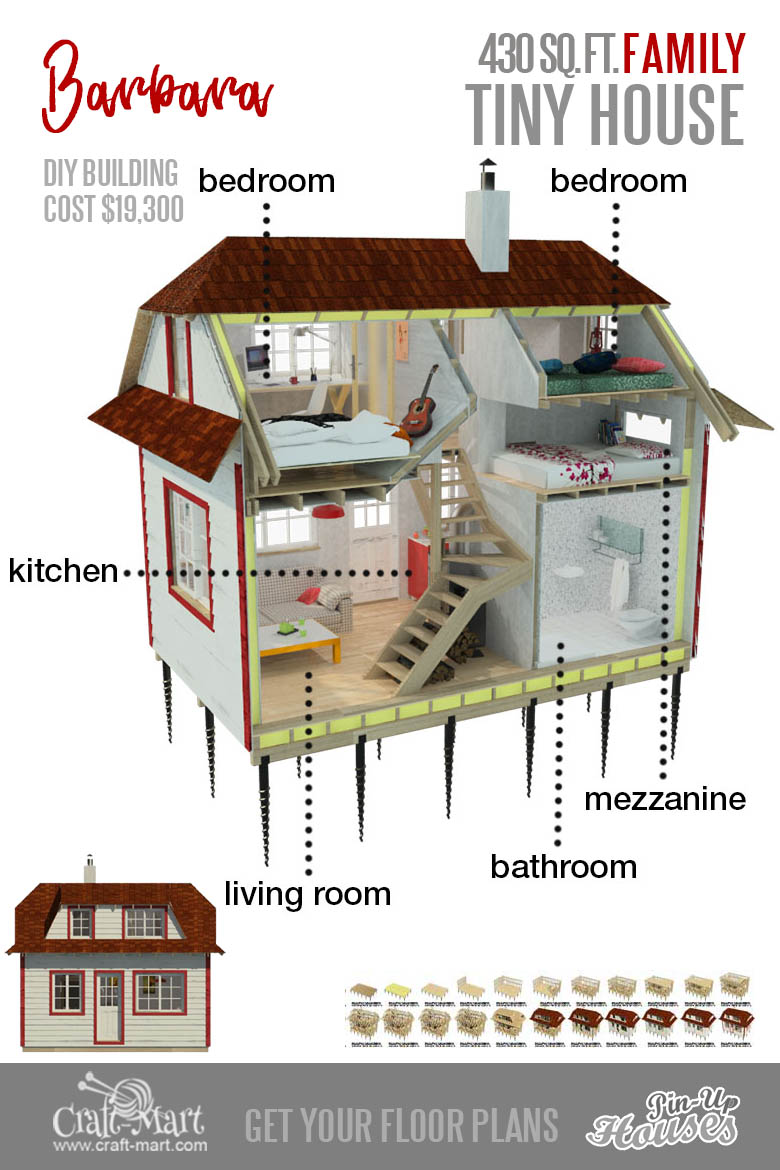 tiny house plans with 3 bedrooms