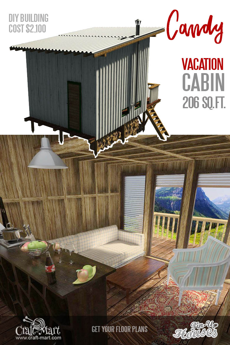 country cabin plans with loft