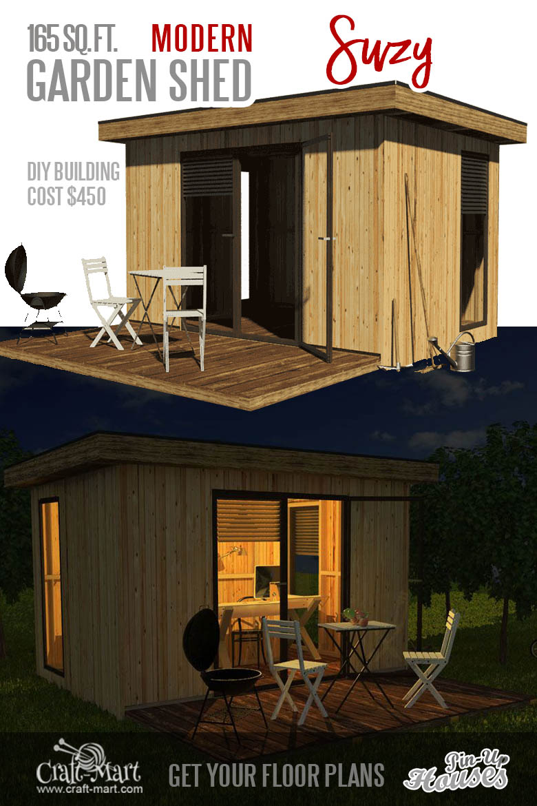 small modern shed plans