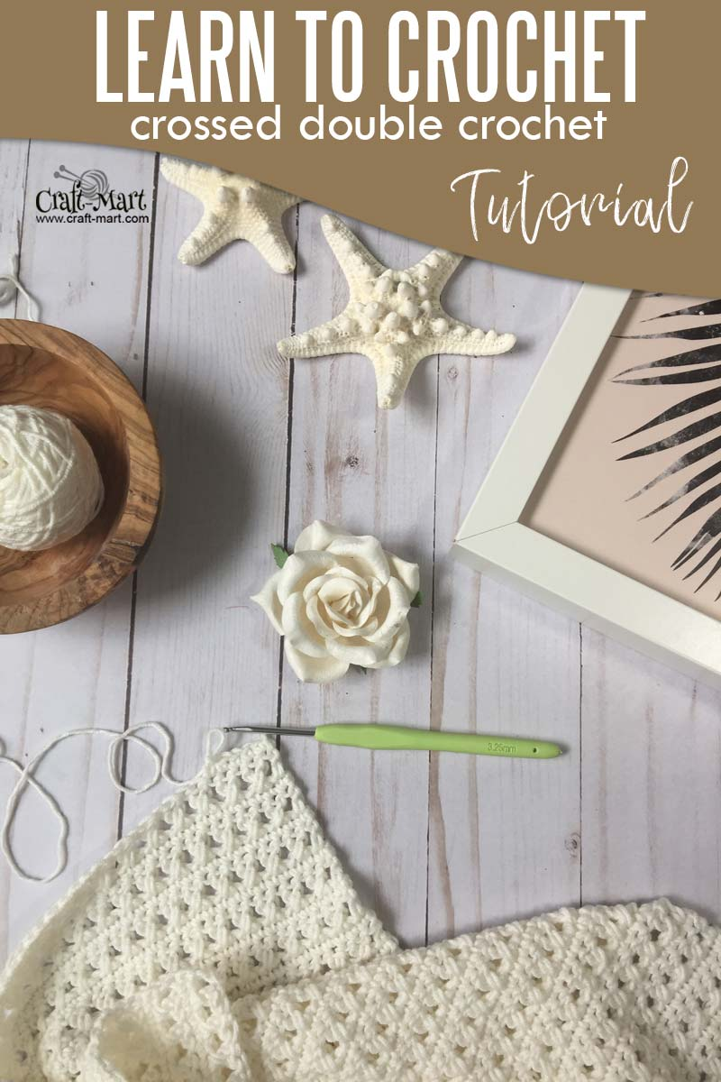 Learn to crochet crossed double crochet stitch with this easy step-by-step tutorial for a breezy summer crochet top #learntocrochet #crochetstitchtutorial #crosseddboublecrochet #cottonyarncrochet