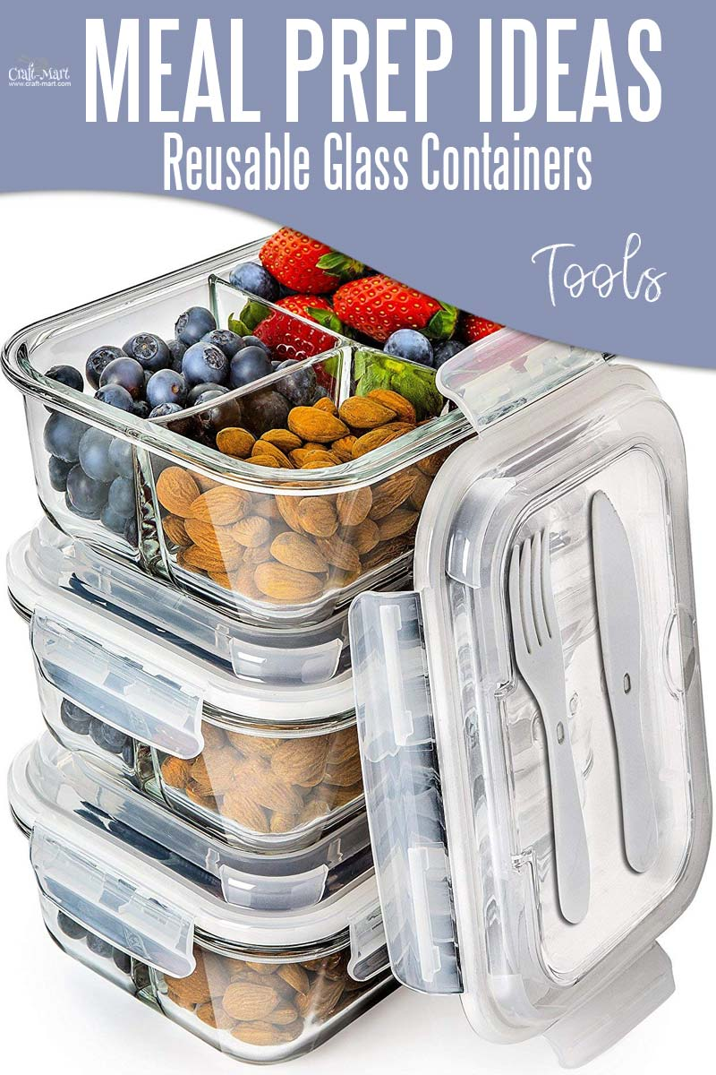 Easy and Healthy Meal Prep Ideas that will save you time and money - containers and tools to use to make your meal prep effortless #easymealprepideas #healthymealprepideas #mealprep #mealprepcontainers