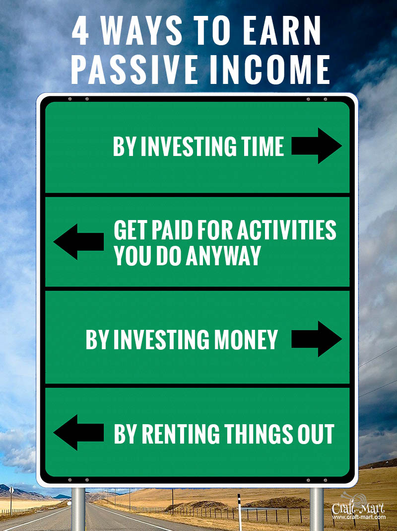 4 ways of earning passive income online