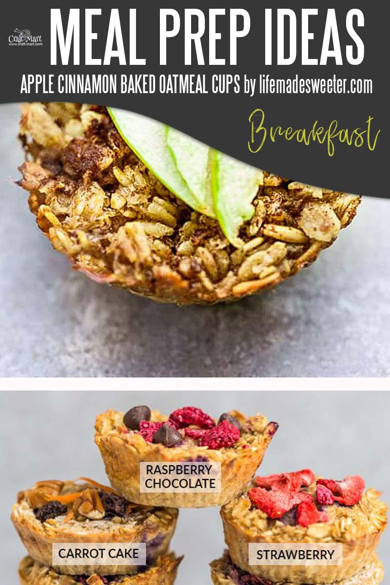 Easy and Healthy Breakfast Meal Prep Ideas that will save you time and money - Oatmeal is a breakfast staple but how do you make it ahead of time? Check out this genius healthy meal prep idea and enjoy your favorite breakfast! #easymealprepideas #healthymealprepideas #mealprep #mealpreprecipes