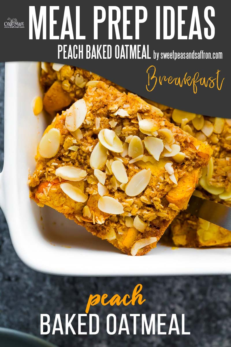 Easy and Healthy Breakfast Meal Prep Ideas that will save you time and money - Another healthy oatmeal breakfast recipe but now prepared as an easy baked meal prep casserole. Make it once and enjoy every morning. #easymealprepideas #healthymealprepideas #mealprep #mealpreprecipes
