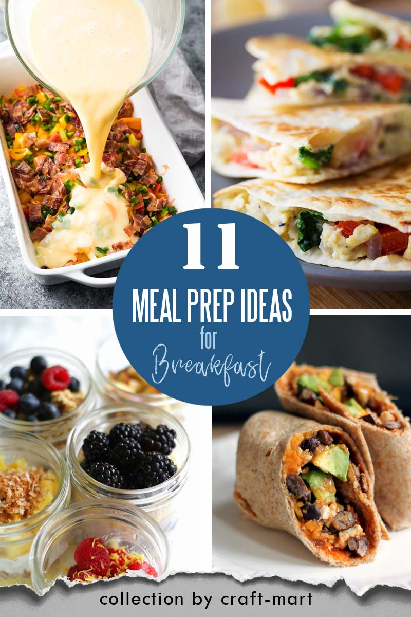 Easy and Healthy Breakfast Meal Prep Ideas that will save you time and money #easymealprepideas #healthymealprepideas #mealprep #mealpreprecipes