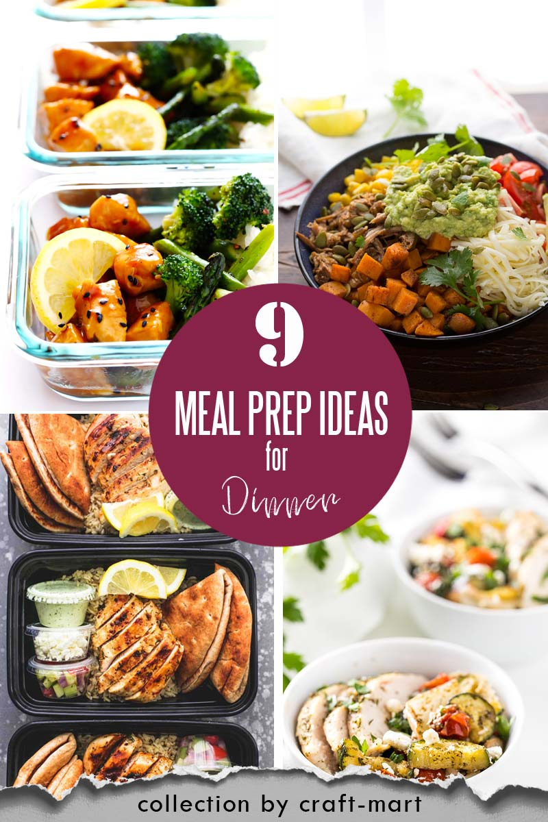 Easy and Healthy Dinner Meal Prep Ideas that will save you time and money #easymealprepideas #healthymealprepideas #mealprep #mealpreprecipes