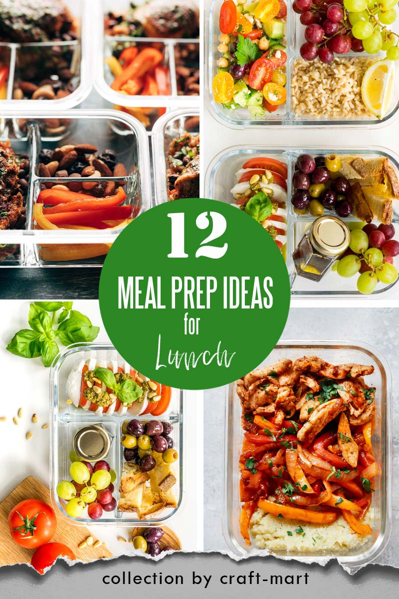Easy and Healthy Lunch Meal Prep Ideas that will save you time and money #easymealprepideas #healthymealprepideas #mealprep #mealpreprecipes