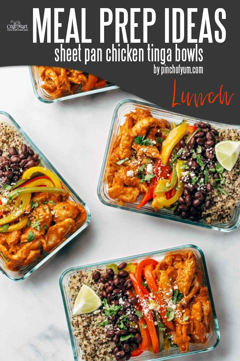 Easy and Healthy Lunch Meal Prep Ideas that will save you time and money - Sheet pan cooking is one of the easiest meal prep hacks that lets you save time while preparing healthy meals. Just put all the ingredients on a sheet, add spices, and bake. In 30 minutes you'll have a sizzling delicious meal to enjoy for a few days. #easymealprepideas #healthymealprep #mealprep #mealpreplunch