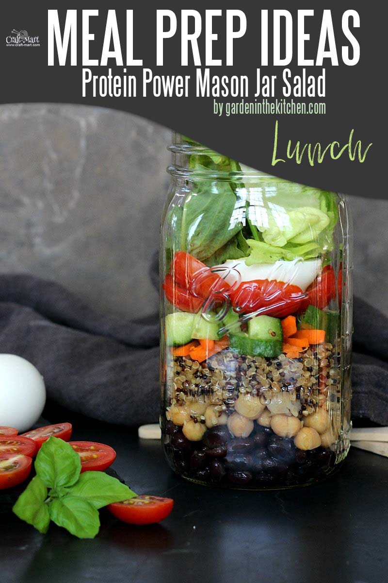 Easy and Healthy Lunch Meal Prep Ideas that will save you time and money - With a perfect combination of tasty protein-packed ingredients, these mason jars pack a perfect summer meal. You can prepare this easy meal prep recipe in under 20 minutes. #easymealprepideas #healthymealprep #mealprep #mealpreplunch