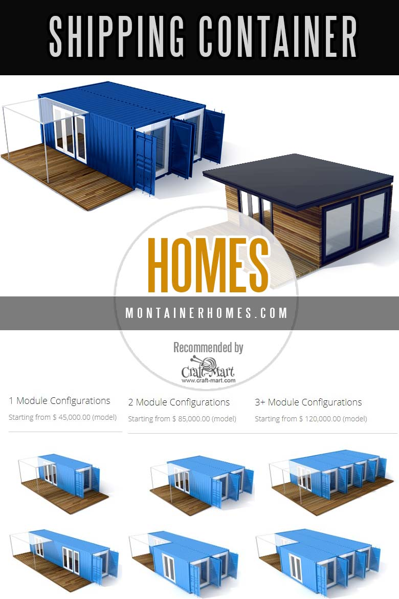 Containerized homes designed and built by Montainer