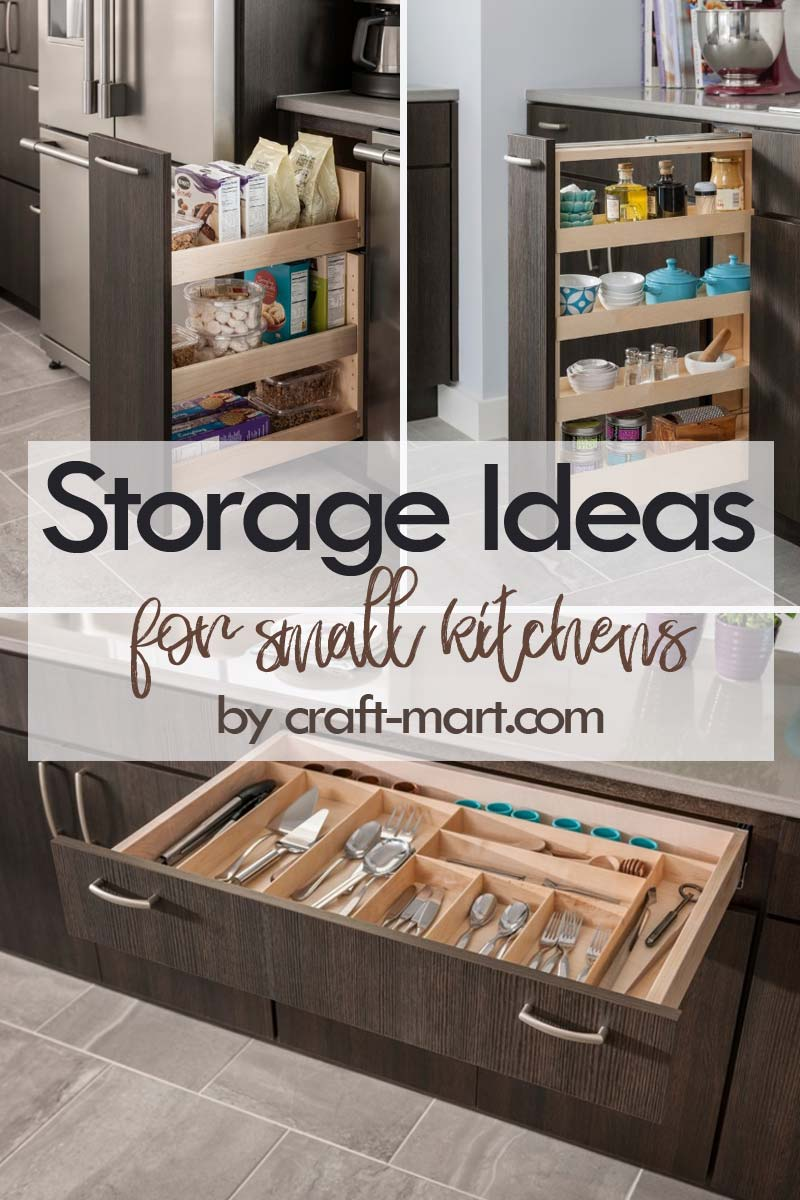 Clever Storage Ideas for Small Kitchens - pullouts for bulky items #kitchenstorageideas #kitchenorganizationhacks #kitchencabinetstorage #smallspaceorganization