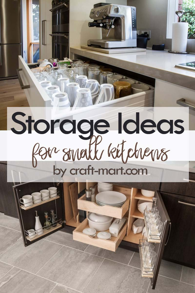 Clever Storage Ideas for Small Kitchens - coffee cups and plates storage solutions #kitchenstorageideas #kitchenorganizationhacks #kitchencabinetstorage #smallspaceorganization