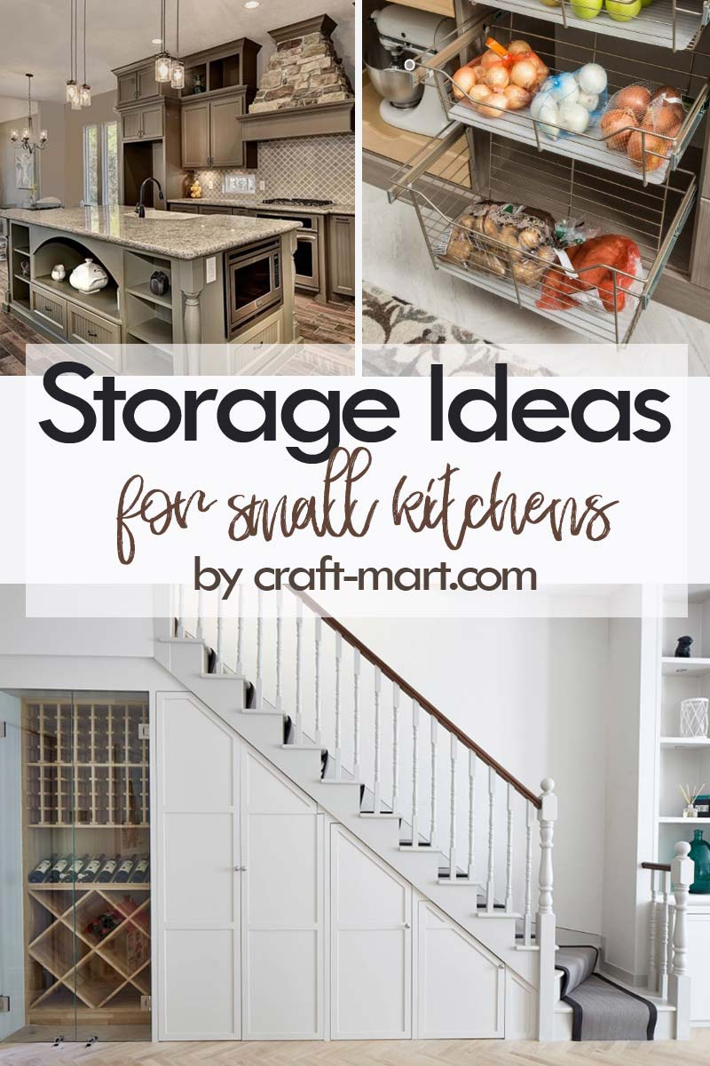 Clever Storage Ideas for Small Kitchens - unusual storage solutions: kitchen island and under the stairs storage #kitchenstorageideas #kitchenorganizationhacks #kitchencabinetstorage #smallspaceorganization