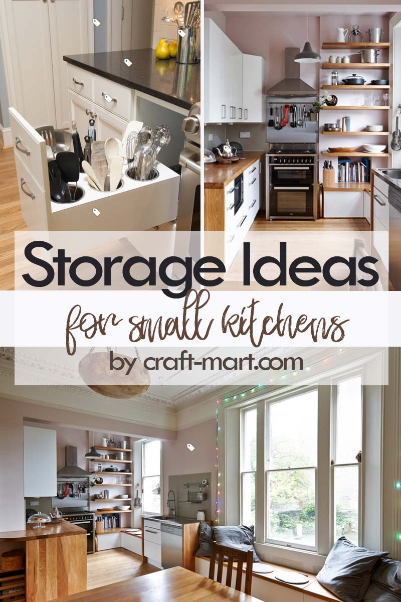 Clever Storage Ideas for Small Kitchens - tiny kitchen with open shelves storage #kitchenstorageideas #kitchenorganizationhacks #kitchencabinetstorage #smallkitchenorganization