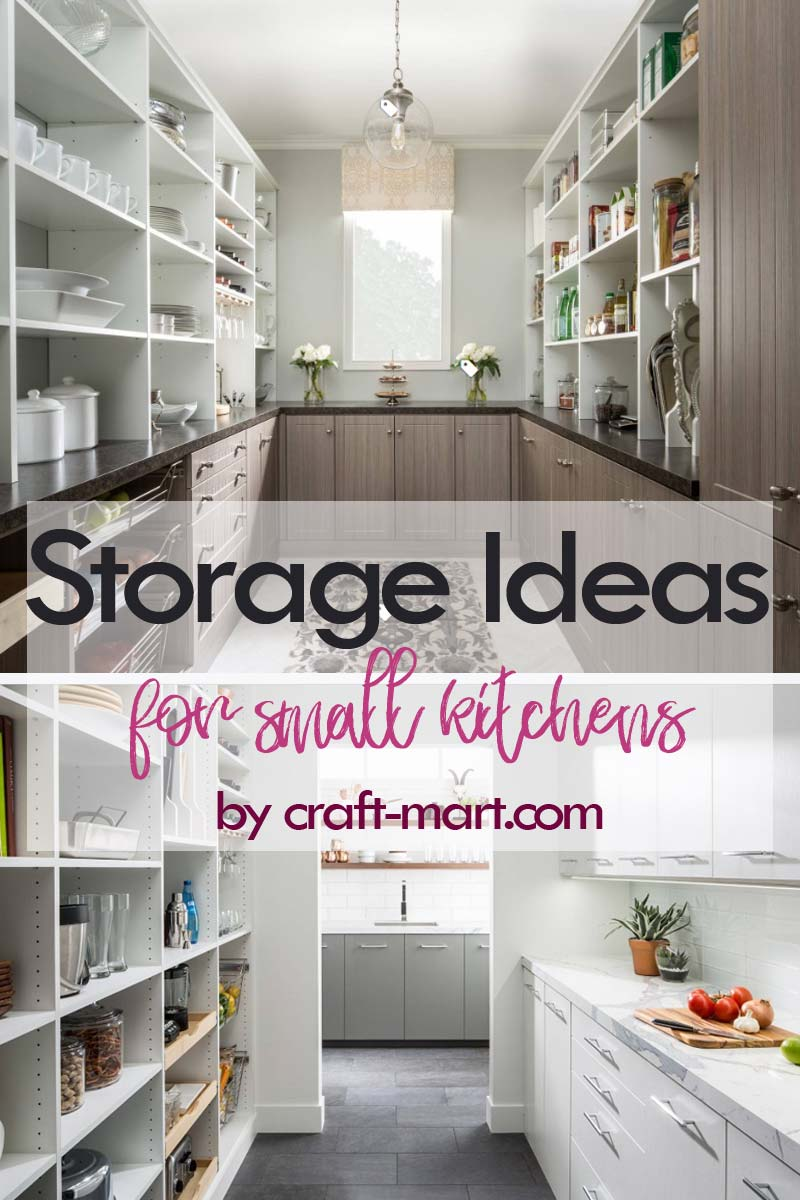 Clever Storage Ideas for Small Kitchens - well-organized pantry with storage counters #kitchenstorageideas #kitchenorganizationhacks #pantryorganization