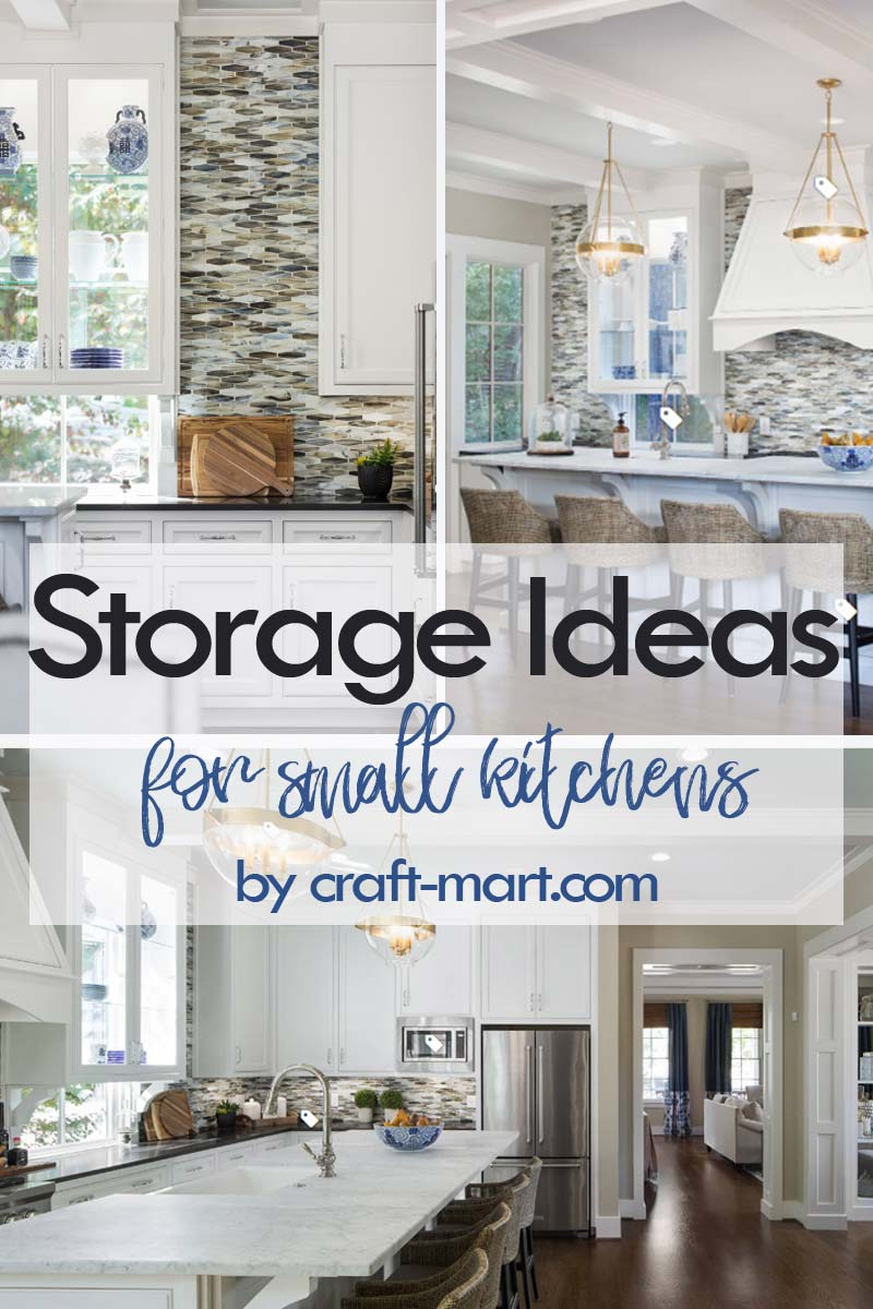 Clever Storage Ideas for Small Kitchens - see-through cabinets to uitlize wall space #kitchenstorageideas #kitchenorganizationhacks #smallkitchencabinets