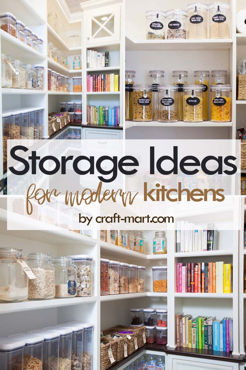 Clever Storage Ideas for Small Kitchens - modern well-organized pantry with defined storage #kitchenstorageideas #kitchenorganizationhacks #pantryorganization