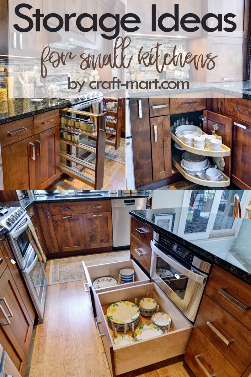 Clever Storage Ideas for Small Kitchens - narrow, wide, and custom pullouts for easy-access #kitchenstorageideas #kitchenorganizationhacks #kitchencabinetstorage #smallspaceorganization