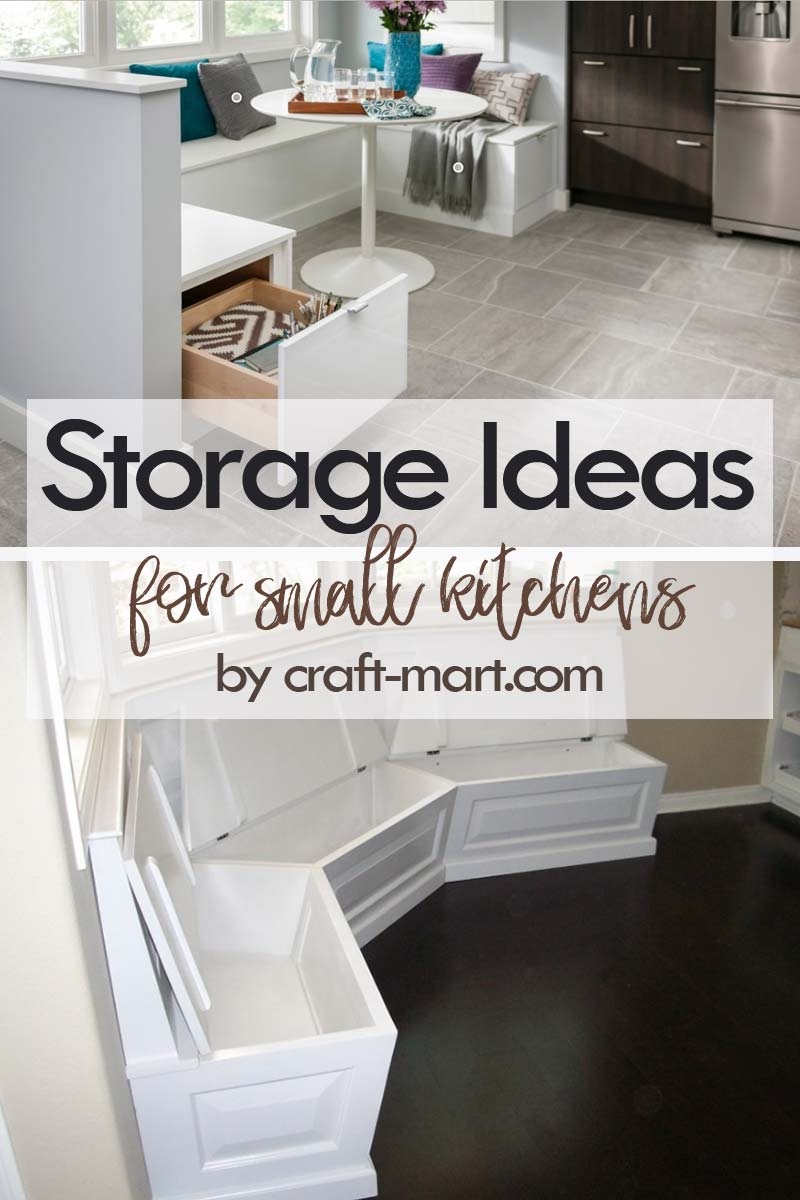 Clever Storage Ideas for Small Kitchens - breakfast nook storage inside the bench sitting area #kitchenstorageideas #kitchenorganizationhacks #underthebenchstorage #smallspaceorganization