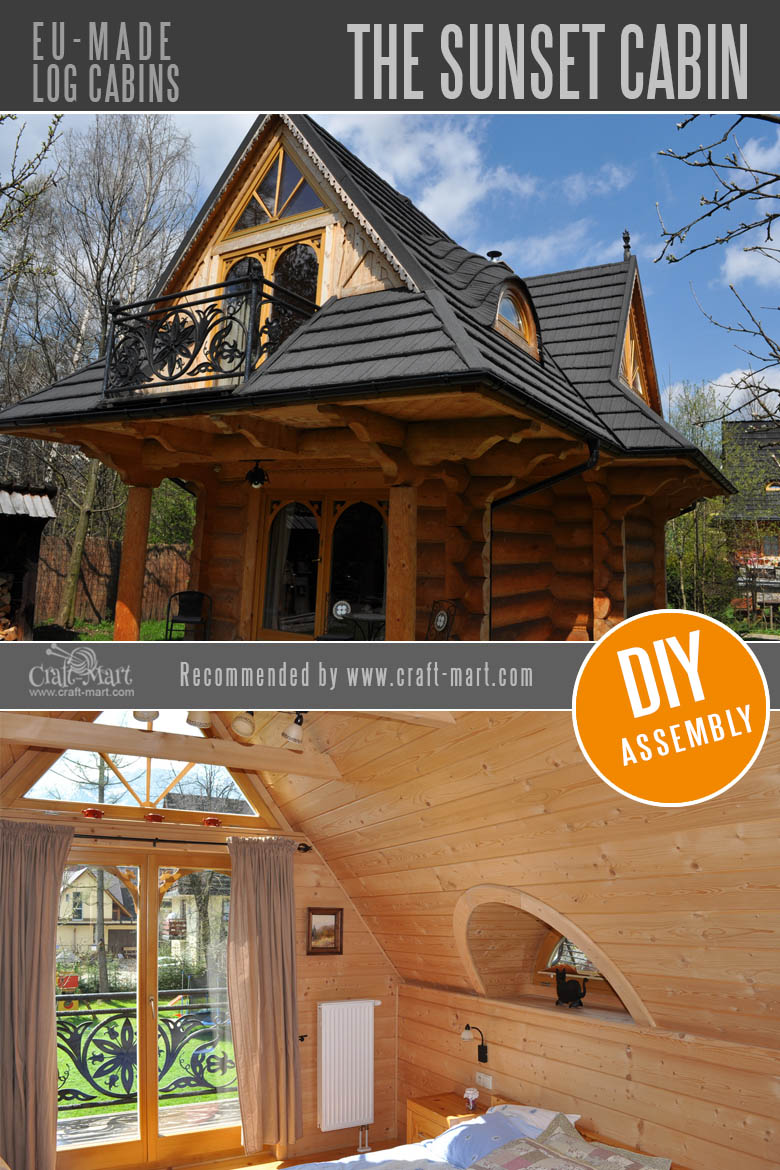 log cabin homes - The Sunset Log Cabin
