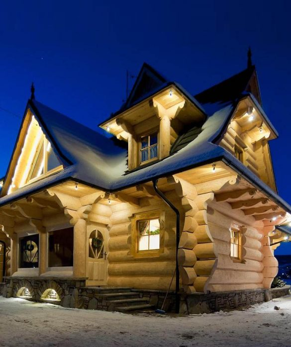 pre built log cabins