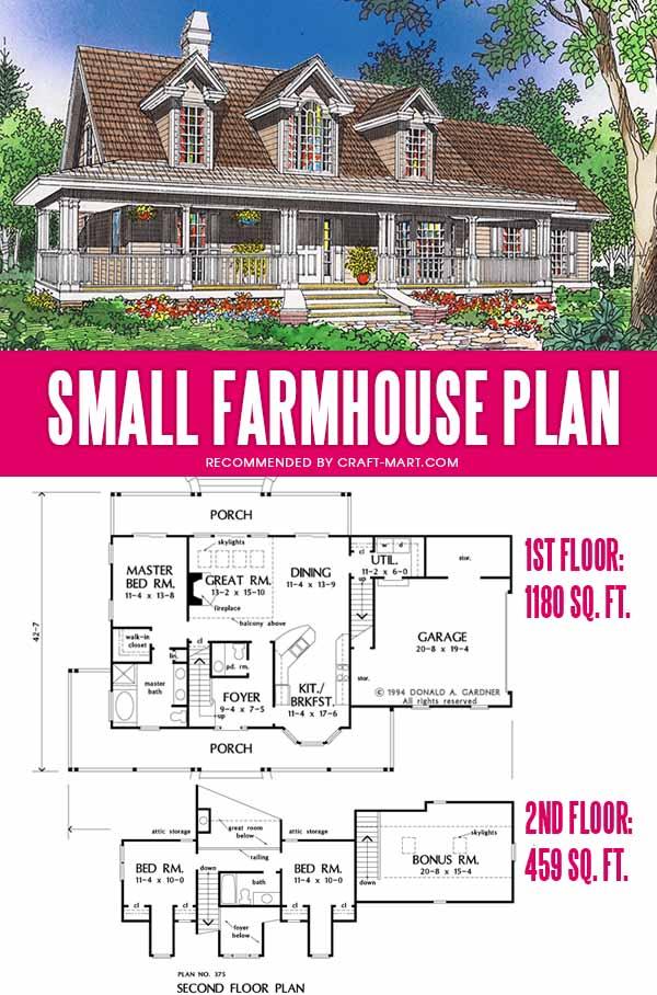 simple farmhouse plan under 2000 sq ft