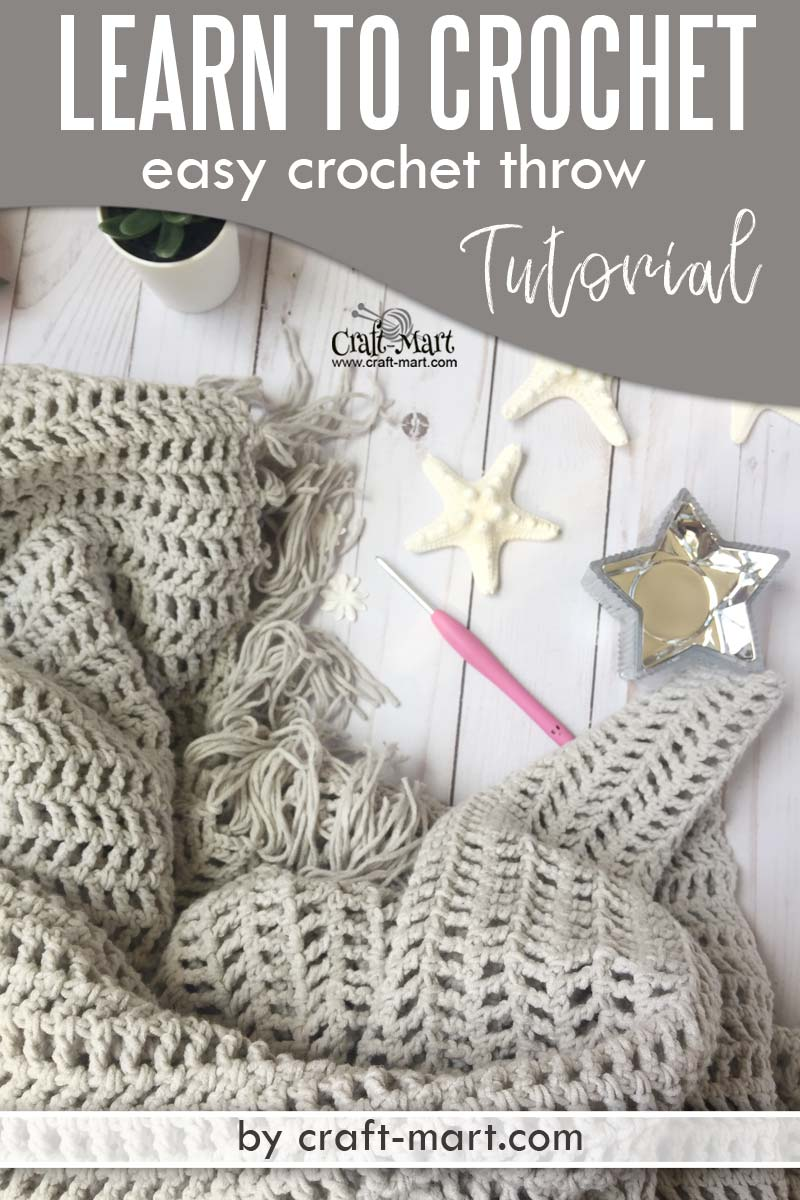Learn to crochet an easy throw with this FREE PATTERN using popular Caron Cotton Cakes yarn. You'll be amazed how easy is this crochet blanket tutorial! You'll love a simple free crochet throw pattern suitable for beginners. #freecrochetthrowpatterns #easycrochetblankettutorial #quickandeasycrochetblanketpatterns #moderncrochetblanketpatternsfree