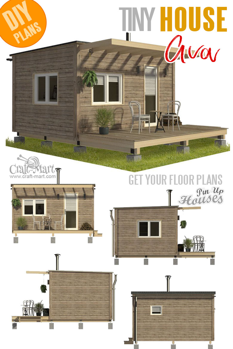 home plans with cost to build - Pod Cabin Plans Ava
