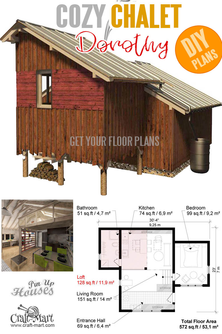 home plans with cost to build - Chalet Plans Dorothy