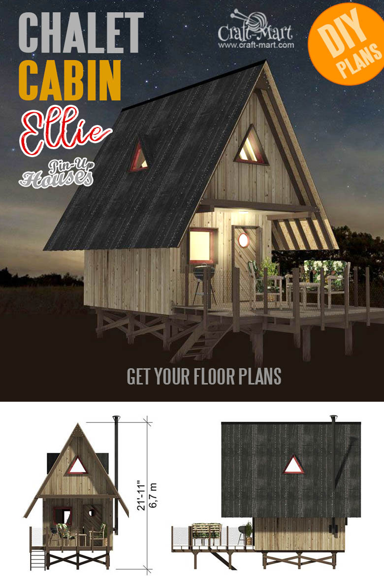one room cabin plans with cost to build - Chalet Ellie