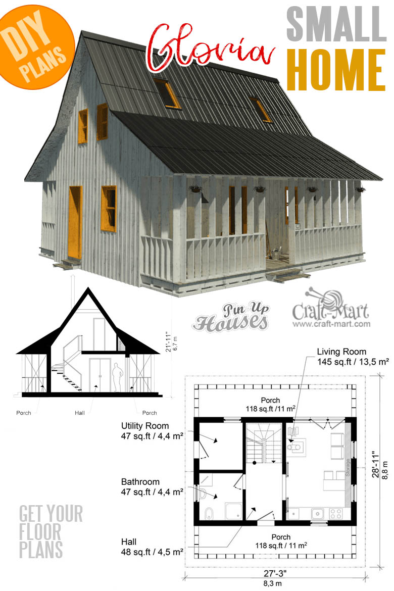 home plans with cost to build - Small House Plans With Porches Gloria