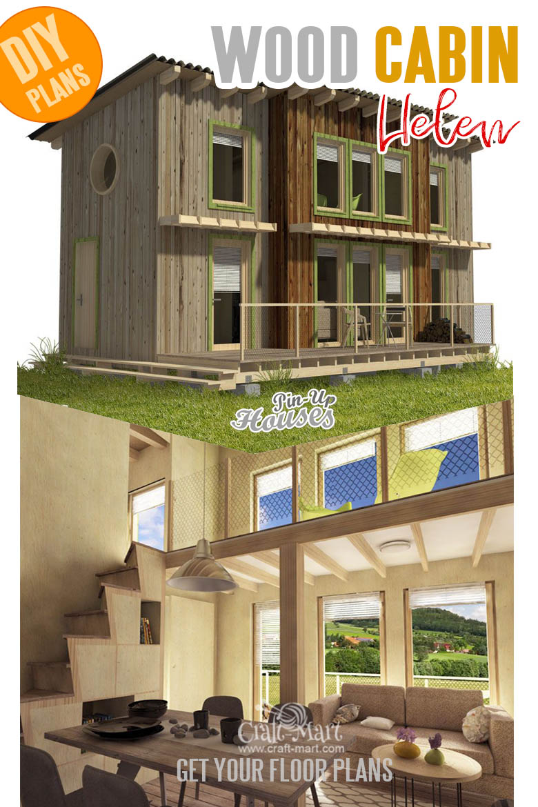 Small and tiny home plans with cost to build - Wood Cabin Plans Helen