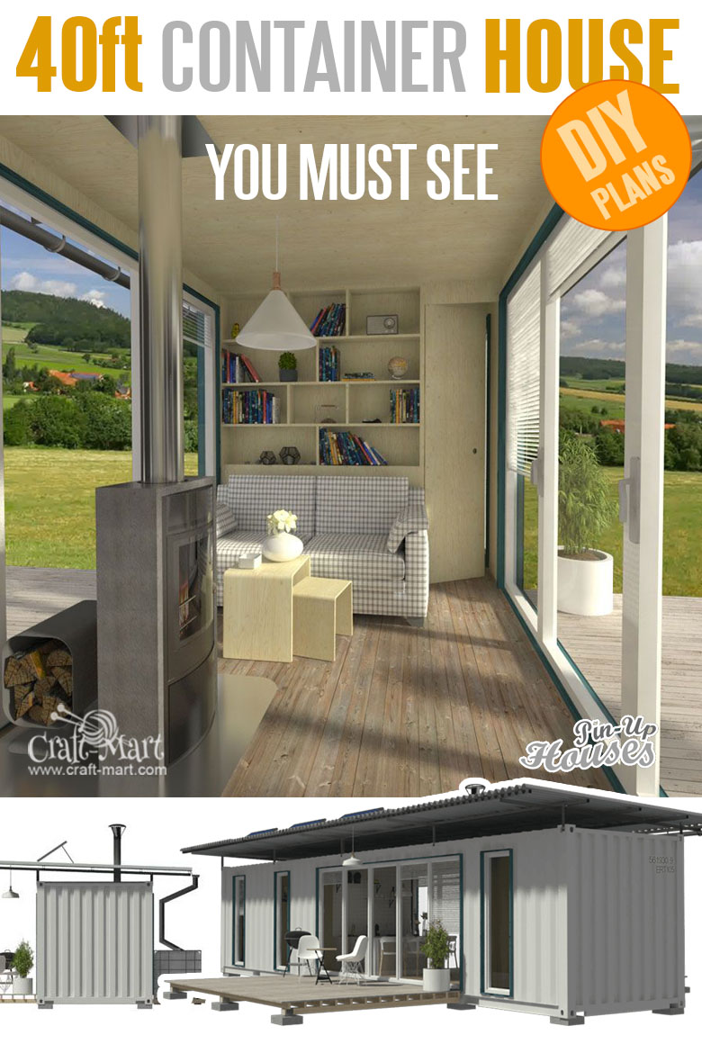 home plans with cost to build - 40ft Container House Plans