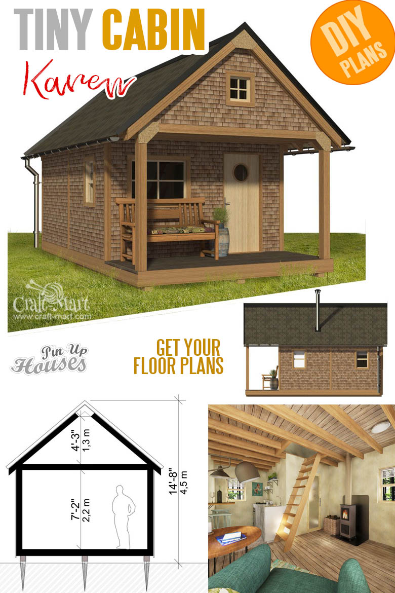 one room cabin plans with cost to build - Basic Cabin Karen
