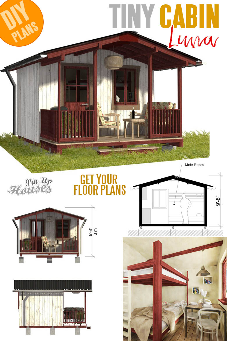 Small and tiny home plans with cost to build - Campground Cabin Plans Luna