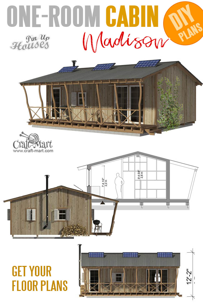 home plans with cost to build - One Room Cabin Plans Madison