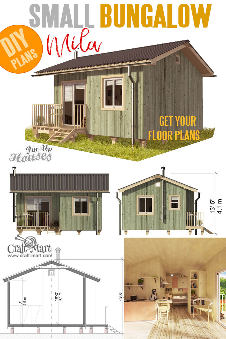 Small Bungalow Mila tiny house plans and cost to build