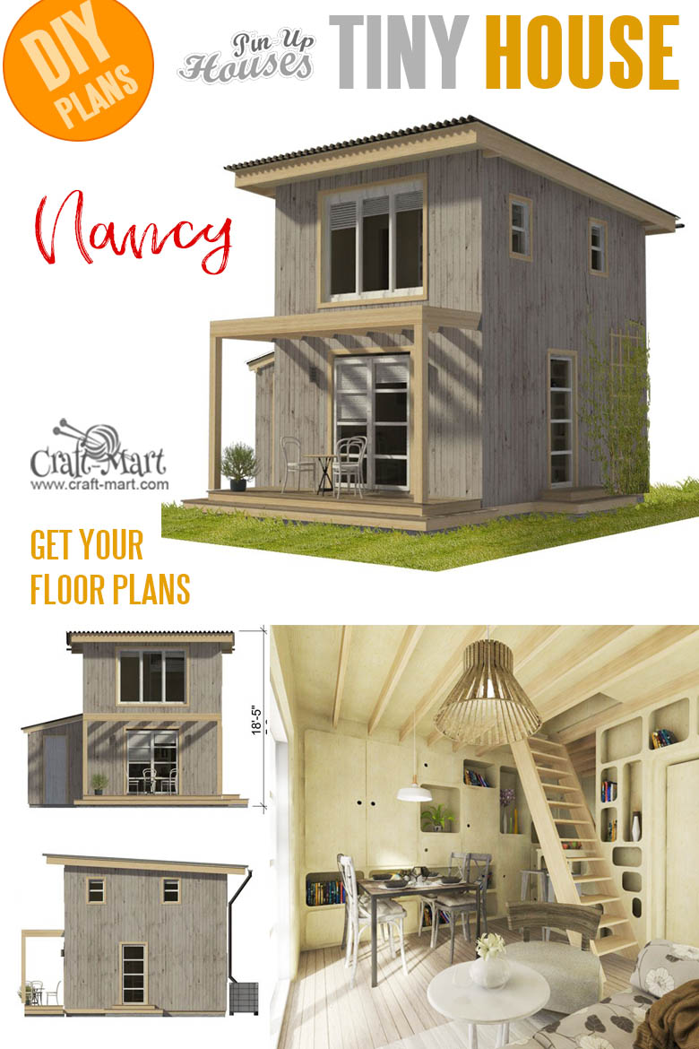 Small and tiny Home plans with cost to build - Mini House Plans Nancy.
