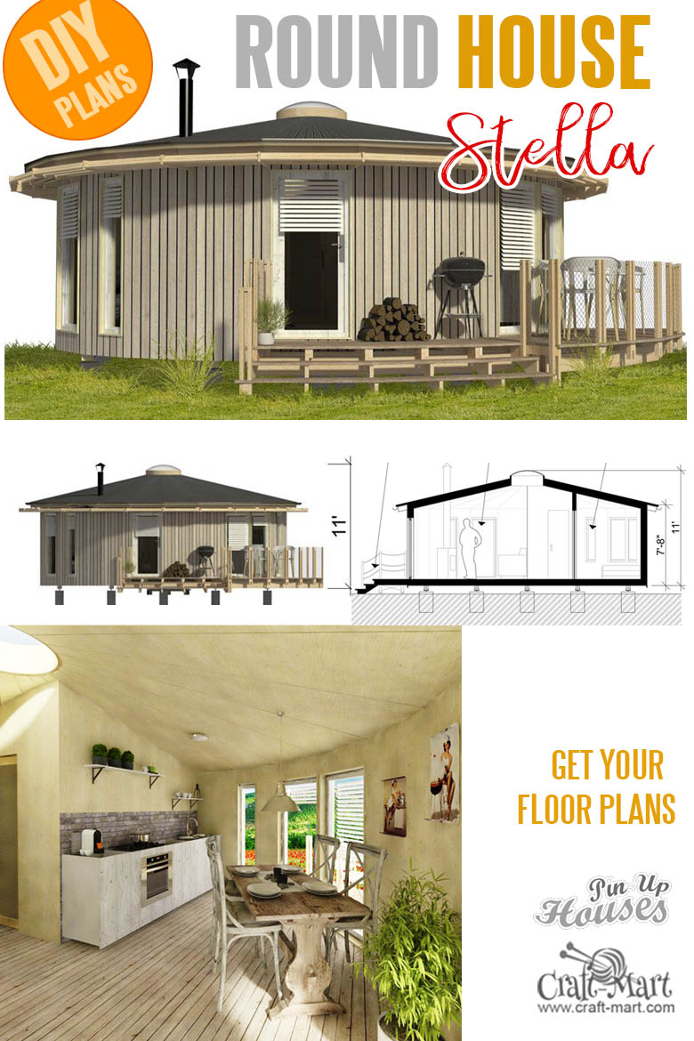 home plans with cost to build - Stella Round tiny house plans and cost