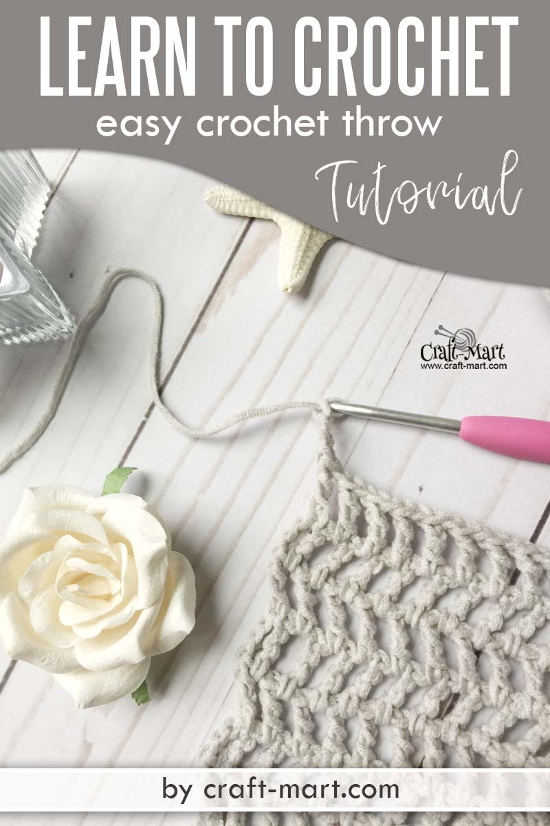 Learn to crochet an easy throw with this unusual crochet pattern using popular Caron Cotton Cakes yarn. You'll be amazed how easy is this crochet blanket tutorial! You'll love a simple free crochet throw pattern suitable for beginners. #freecrochetthrowpatterns #easycrochetblankettutorial #quickandeasycrochetblanketpatterns #moderncrochetblanketpatternsfree