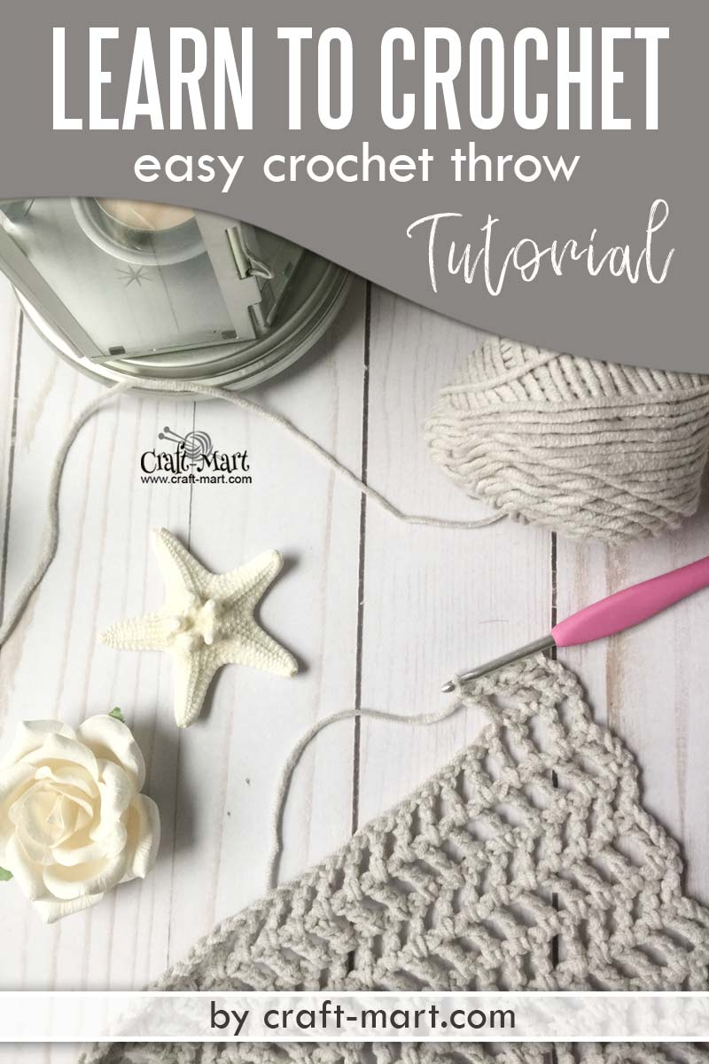 Learn to crochet an easy throw with this FREE PATTERN using popular Caron Cotton Cakes yarn. You'll be amazed how easy is this crochet blanket tutorial! You'll love a simple free crochet throw pattern suitable for beginners. #freecrochetthrowpatterns #easycrochetblankettutorial #quickandeasycrochetblanketpatterns