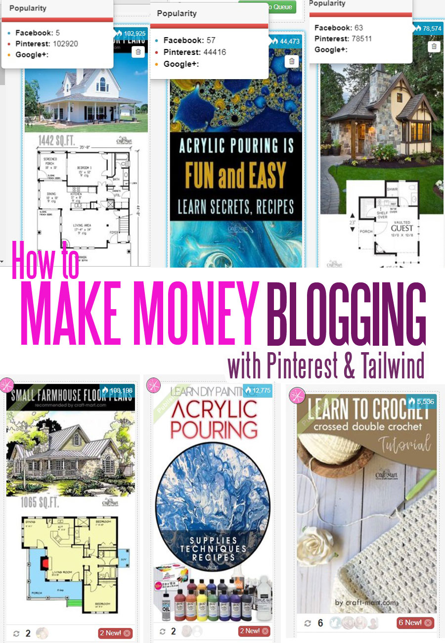 how to make money online with Pinterest and Tailwind